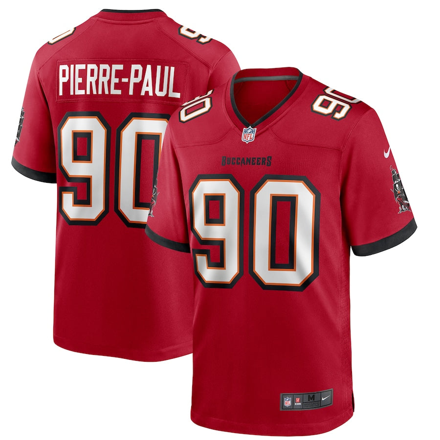 Men's Nike Jason Pierre-Paul Red Tampa Bay Buccaneers Game Jersey