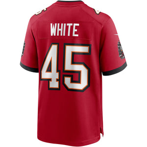 Men's Nike Devin White Red Tampa Bay Buccaneers Game Player Jersey