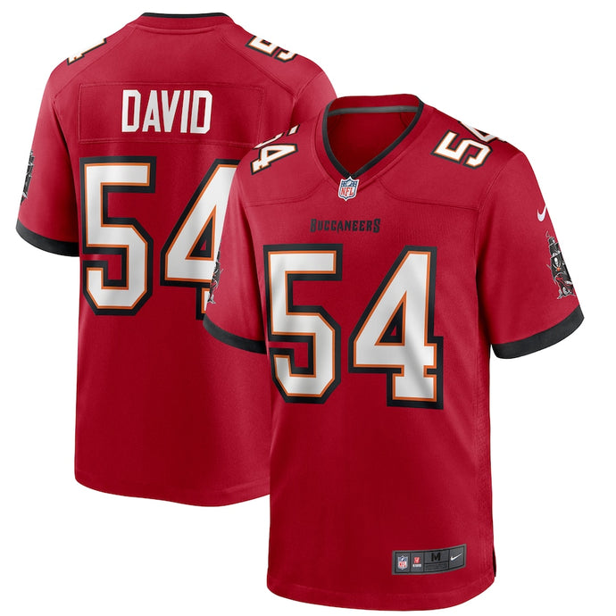Men's Nike Lavonte David Red Tampa Bay Buccaneers Player Game Jersey