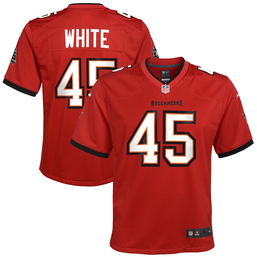 Youth Nike Devin White Red Tampa Bay Buccaneers Game Jersey
