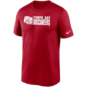 Men's Nike Red Tampa Bay Buccaneers Fan Gear Team Impact Legend Performance T-Shirt