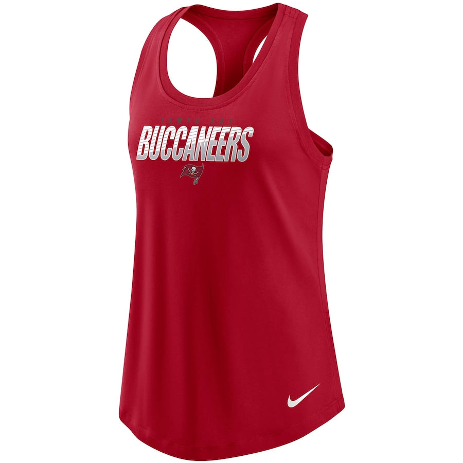 Women's Nike Red Tampa Bay Buccaneers Light Impact Performance Racerback Tank Top