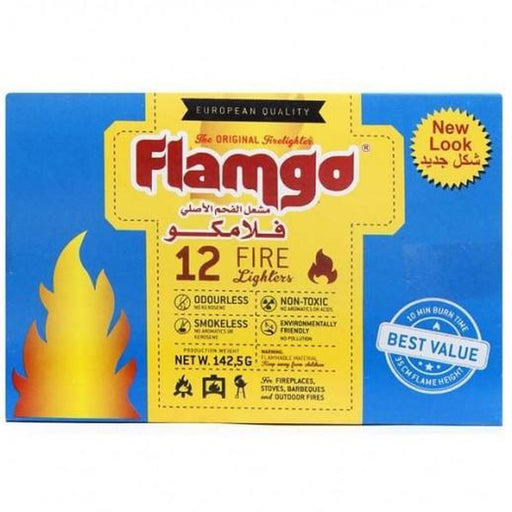FLAMGO Fireligther Cubes | No Smoke, No Odor and No Sparks | 100% Chemical Free