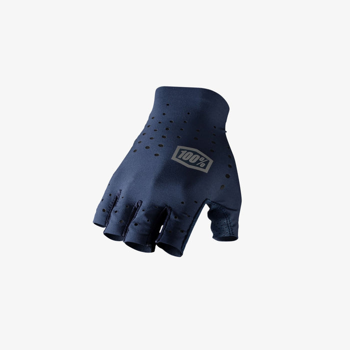 100% Men's Sling Short Finger Extra Large -Navy | Laser Perforations For Breathability | Ultra-Lightweight 4-Way Stretch