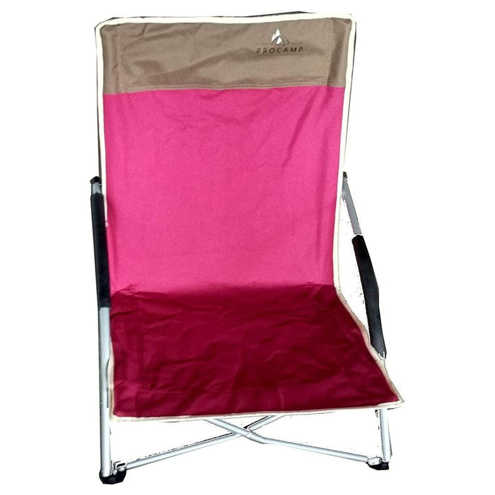 PROCAMP Low Beach Chair (Chandug) | 80 Kg Weight Capacity | Polyester Fabric