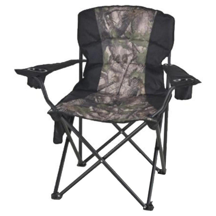 PROCAMP Deluxe Padded Hunting Chair | Adjustable Lumbar Support | Camo 600x300D/PVC Fabric