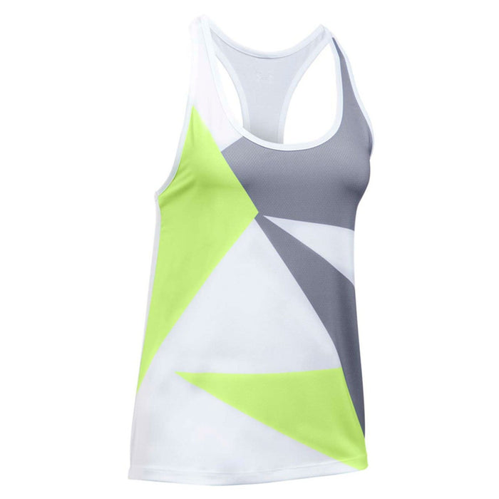 UNDER ARMOUR Women's Geo Run Tank | Moisture Transport System | 91% Polyester/9% Elastane