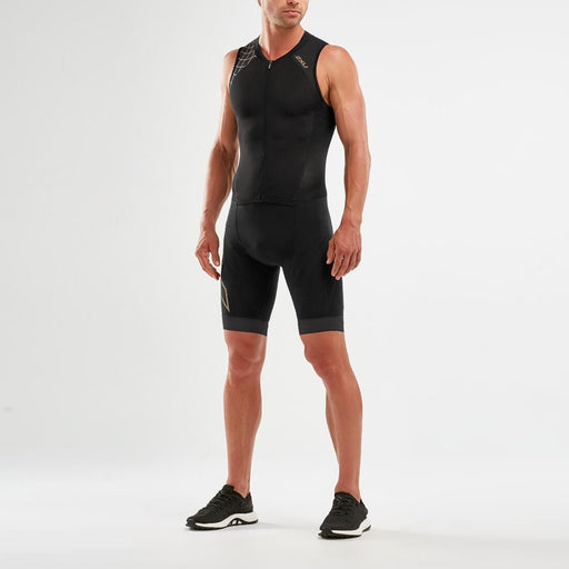2XU Compression Full Zip Trisuit - Black / Gold