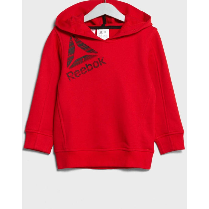 REEBOK Boys Essential Tracksuit Red - Small | Asymmetric Panelling | Tricot Fabric