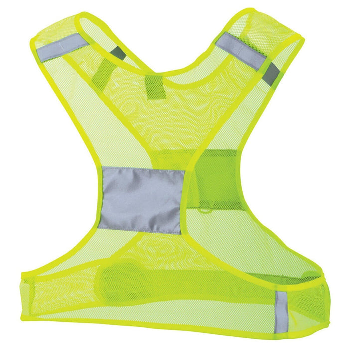NATHAN Streak Reflective Vest - Yellow | 360-Degrees Maximum Visibility | VELCRO-Closure Tabs