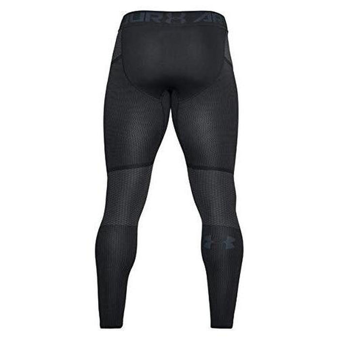 UNDER ARMOUR Men's Threadborne Seamless Legging - Black | 4-Way Stretch Construction | 56% Nylon/40% Polyester/4% Elastane