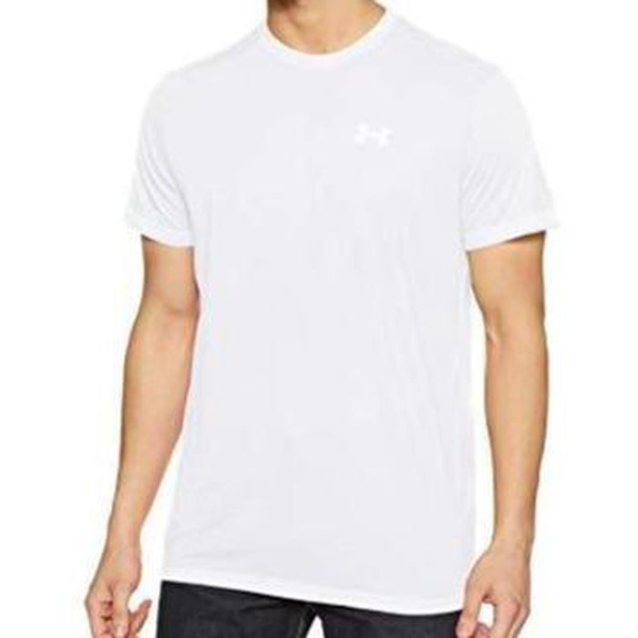UNDER ARMOUR Men's Threadborne Streaker Short Sleeve - White | Threadborne Microthread Technology | 100% Polyester