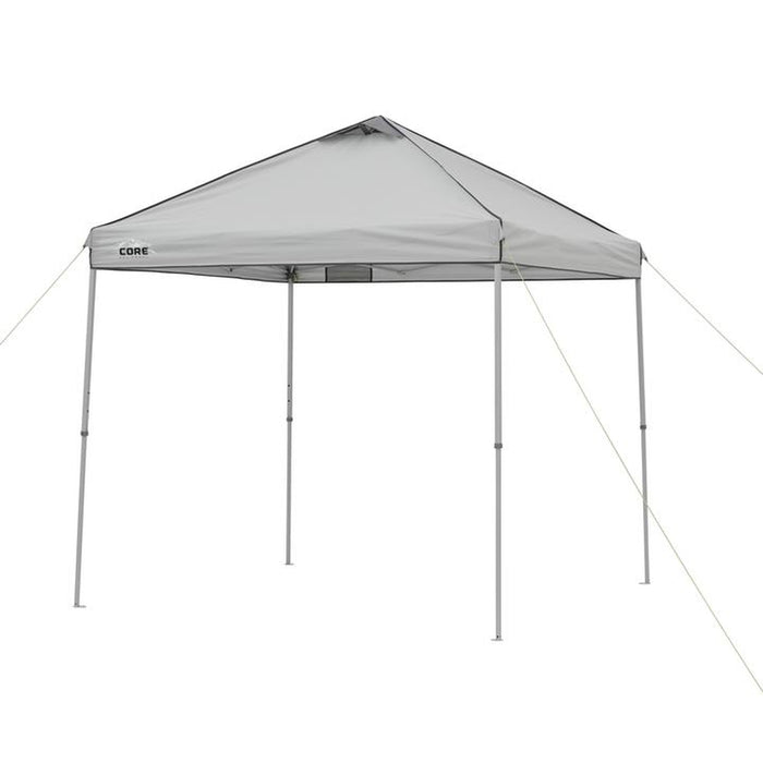 CORE EQUIPMENT 8x8 Instant Canopy - Grey/Silver | H20 Block Fabric Technology | Poly 150D PU 600mm W/R F/R Silver Coated