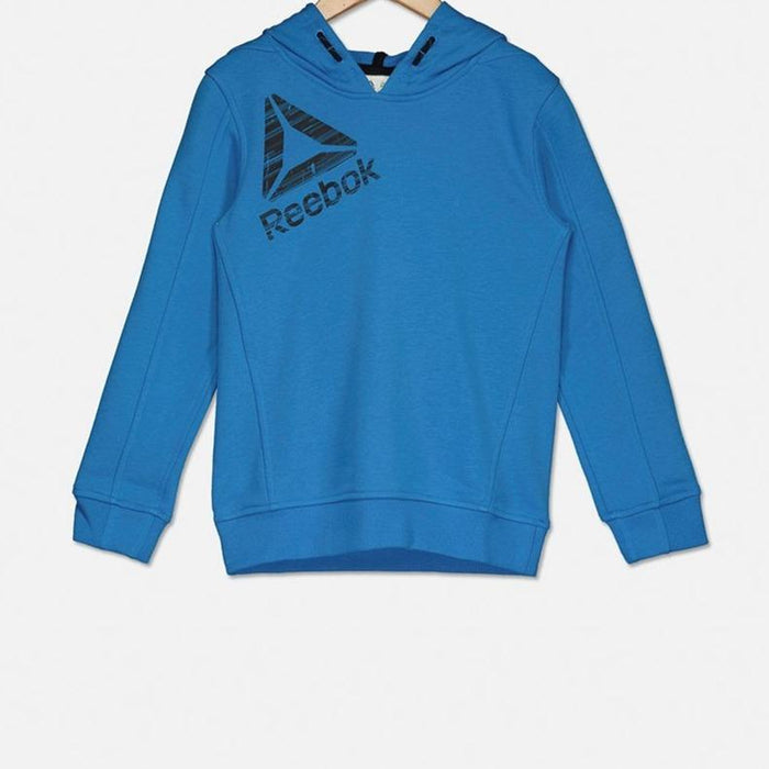 REEBOK Boys Essential Tracksuit Blue - Small | Asymmetric Panelling | Tricot Fabric