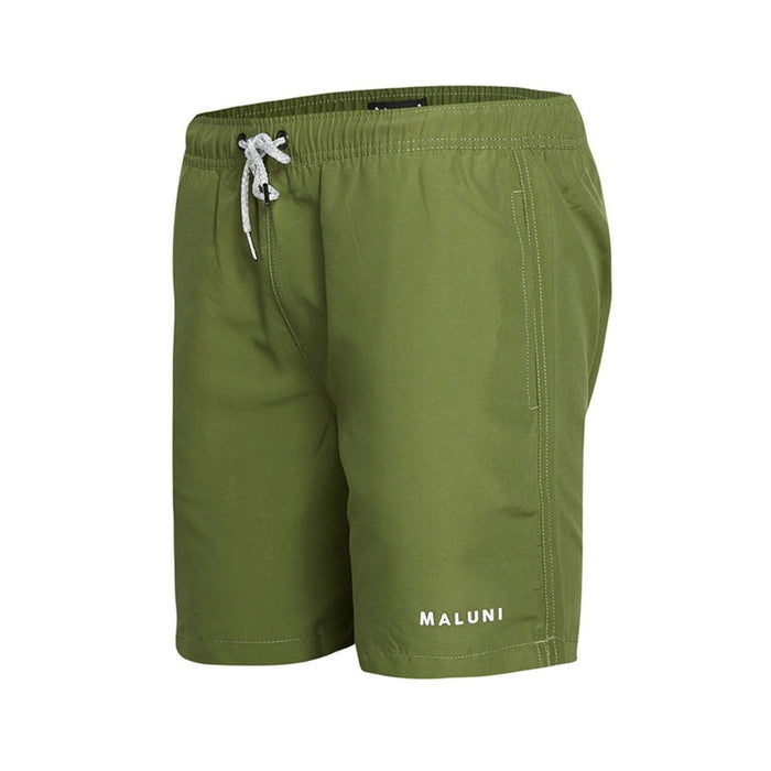 MALUNI Olive Mid Shorts Olive Green - Men's
