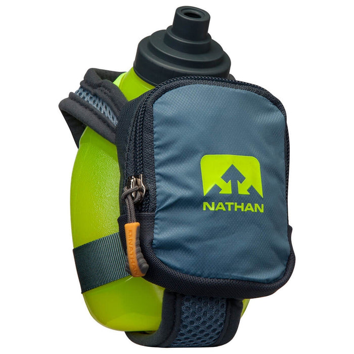 NATHAN Quickshot Plus - Bluestone | 10 Oz / 300 mL Flask | Fully-Adjustable Hand Strap