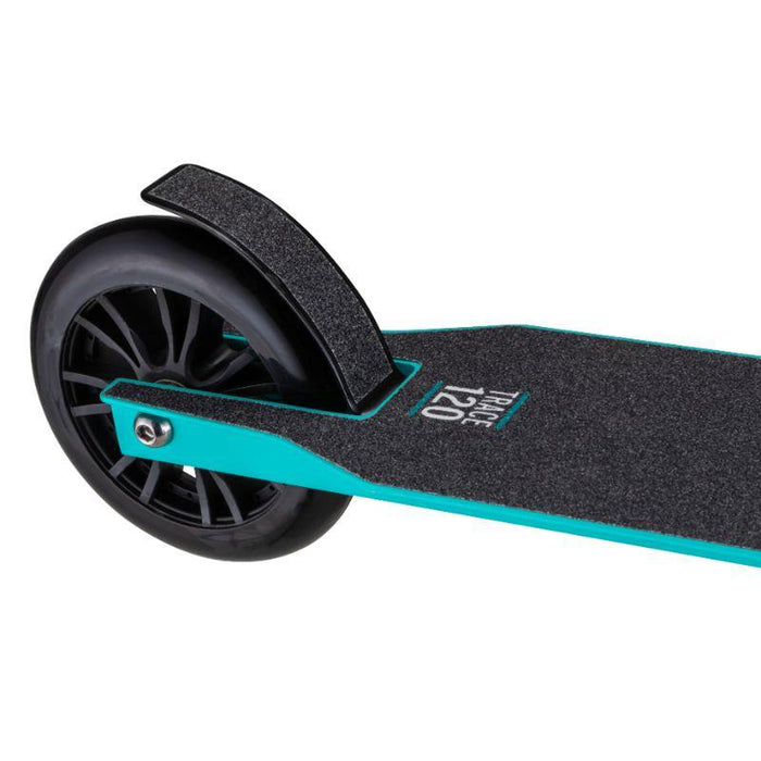 MONGOOSE Kid's Trace 120MM Folding Scooter - Teal | Lightweight Alloy Deck and Steel Brake | Supports up to 176 pounds