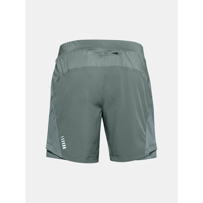 UNDER ARMOUR Men's UA Qualifier Speedpocket 7'' Short - Lichen Blue | Wicks Sweat And Dries Fast | Stretch-Woven Fabric
