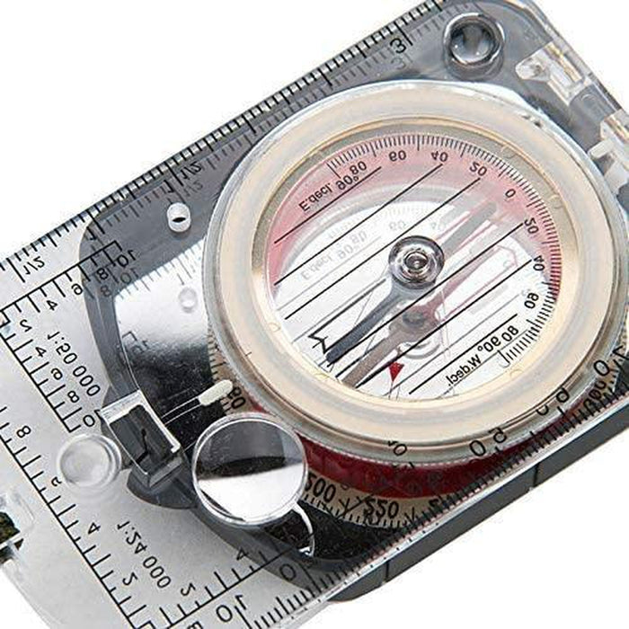 NATUREHIKE Multipurpose Compass With Ruler | Luminous Effect | ABS Engineering Plastic