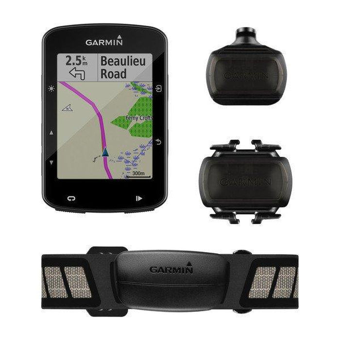 GARMIN Edge 520 Plus Sensor Bundle - Black | Advanced Navigation | Rechargeable Lithium-ion
