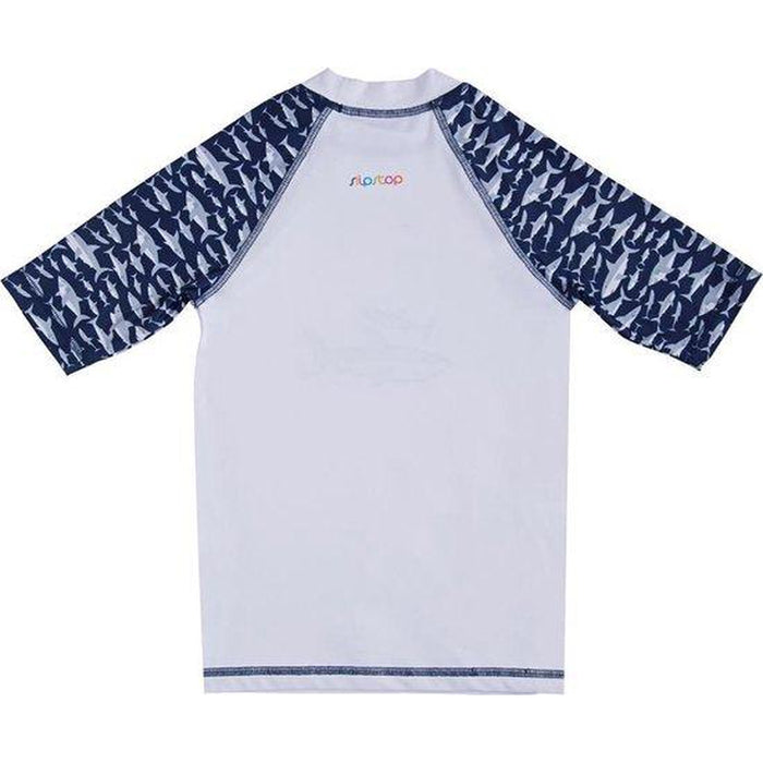 SLIPSTOP Sharks  Rash Guard Short Sleeve