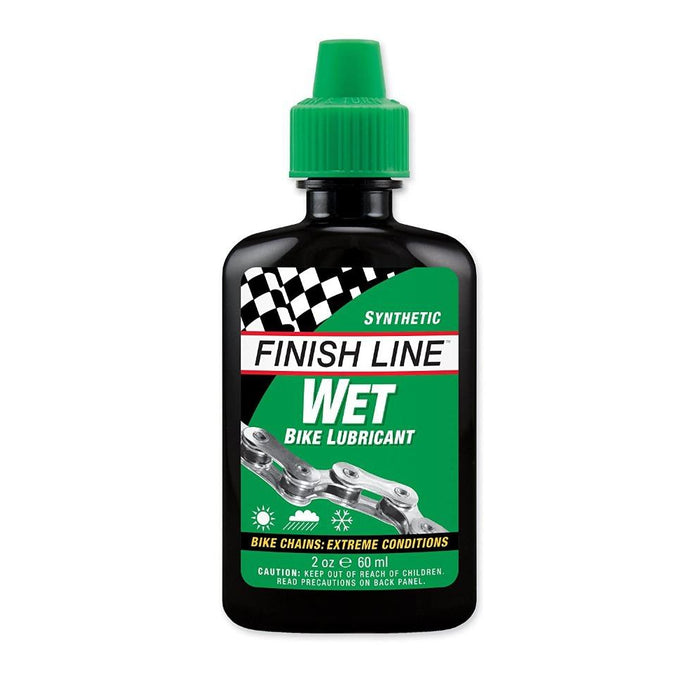 FINISH LINE Cross Country Wet Chain Lube - 60 Milliliters | Temperature Resistant | 100% Synthetic Formula