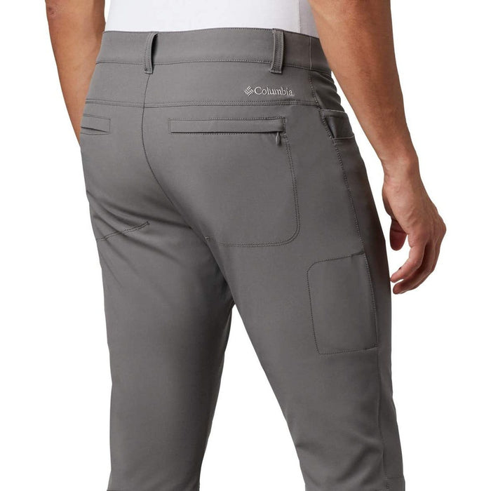 COLUMBIA Men's Outdoor Elements Stretch Pant - City Grey | Omni-Shield Advanced Repellency | 90% Polyester/ 10% Elastane