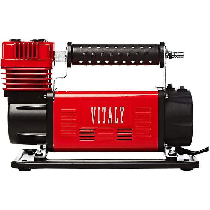 VITALY Air Compressor Single Cylinder Heavy Duty | Maximum Voltage: 12-13.8 V | Maximum Restart Pressure: 200PSI