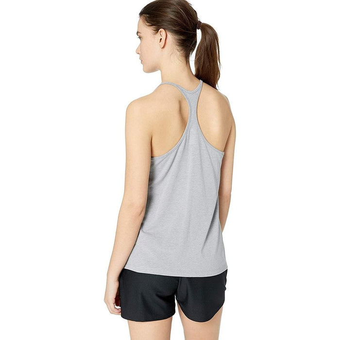 UNDER ARMOUR Women's Graphic Fashion Tank Print - Steel Heather | 4 Way Stretch Construction | 57% Cotton/38% Polyester/5% Elastane