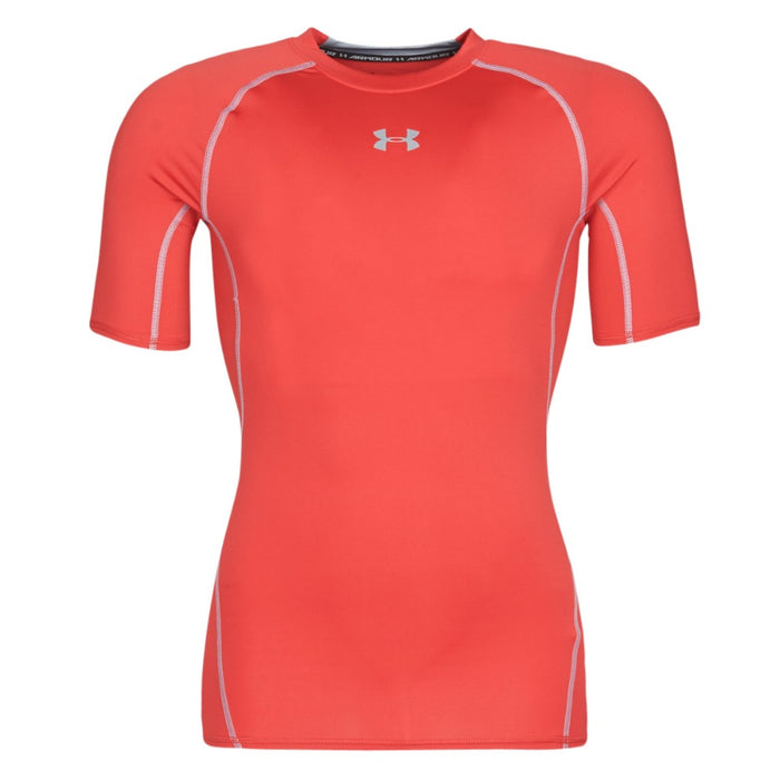 UNDER ARMOUR Heatgear Armour Short Sleeve - Red/Steel