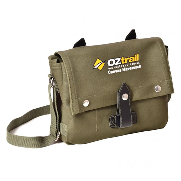 Oztrail Canvas Haversack Bag Camping, Packs