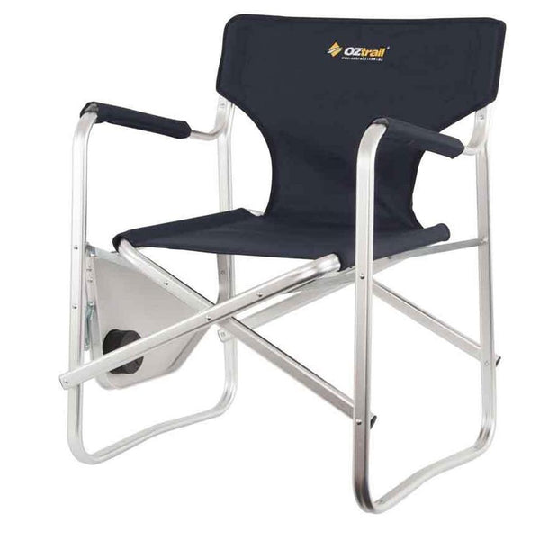 Oztrail Directors Studio Chair W/ Side Table Camping, Furnitures