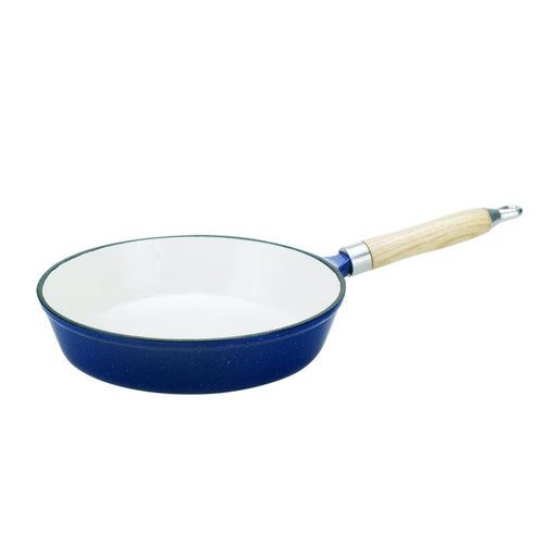 Oztrail 26Cm Wood Handle Enamel Frypan