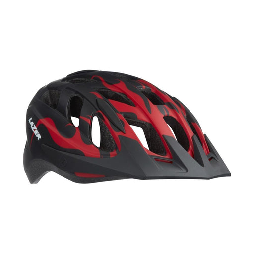 Lazer J1 / Red + Net + Led Helmet