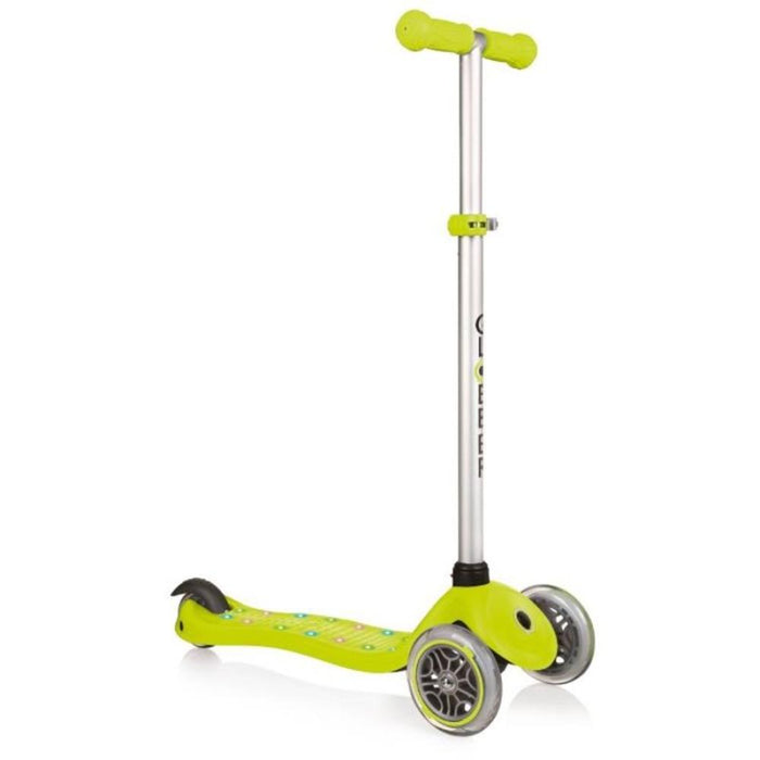 Globber Primo Plus Lights V2Lime (Bi-Injection) Scooter