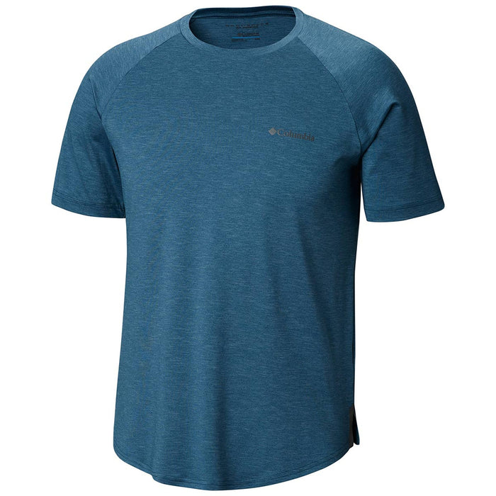 COLUMBIA Men's Tech Trail Ii Short Sleeve Crew - Petrol Blue