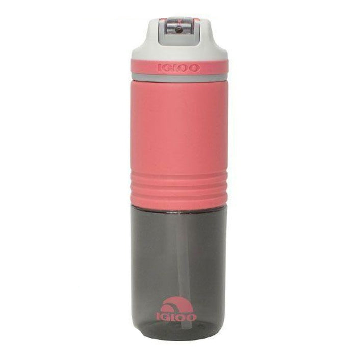 IGLOO Silicon Straw Bottle 24Oz - Pink