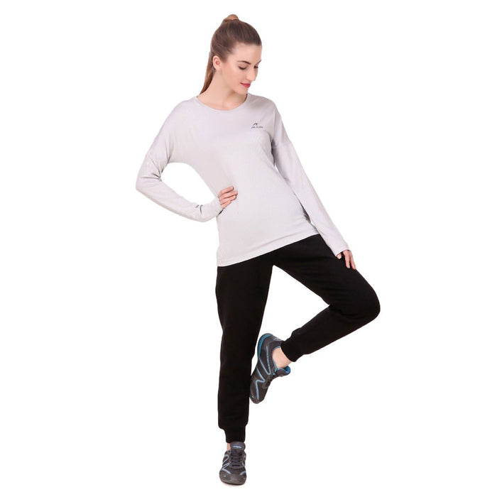 ALCIS Grey Womens Long Sleeve T-shirt