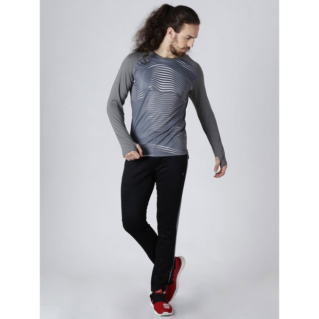 ALCIS Grey Mens Long Sleeve T-Shirt