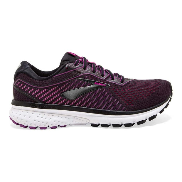 Brooks Ghost 12 Black/Pink/White Shoes
