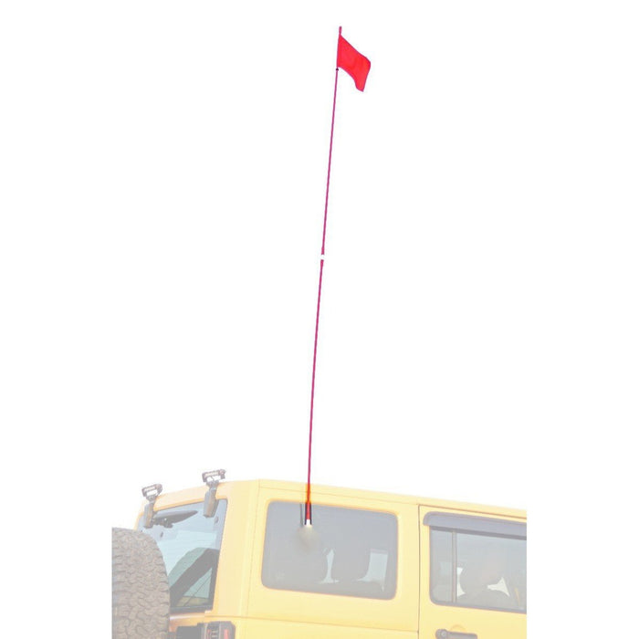 AOR Off Road 9 Feet Red Flag Pole - Red | Enhanced Visibility | Fiberglass and Resin