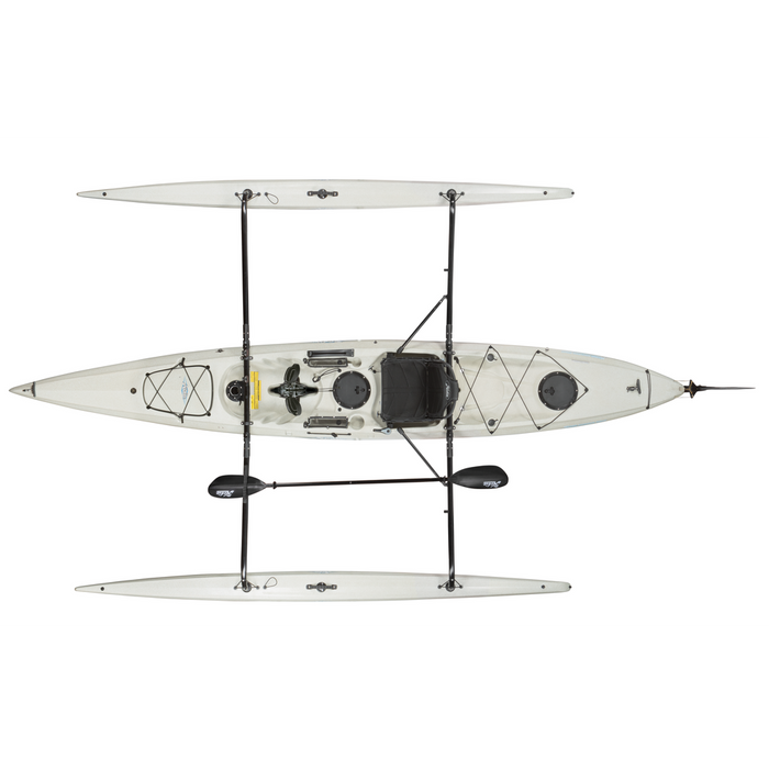 HOBIE Adventure Island 2019 Kayak - Ivory Dune | Powered By MirageDrive Glide Technology | Kick Up Fins