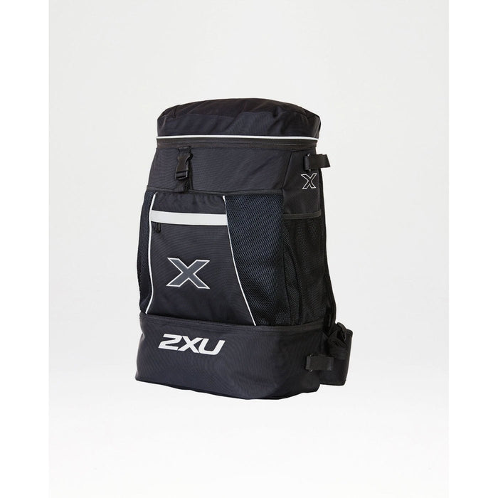 2XU Transition Bag - Black | Multiple Zipped Pockets | Nylon and Polyester