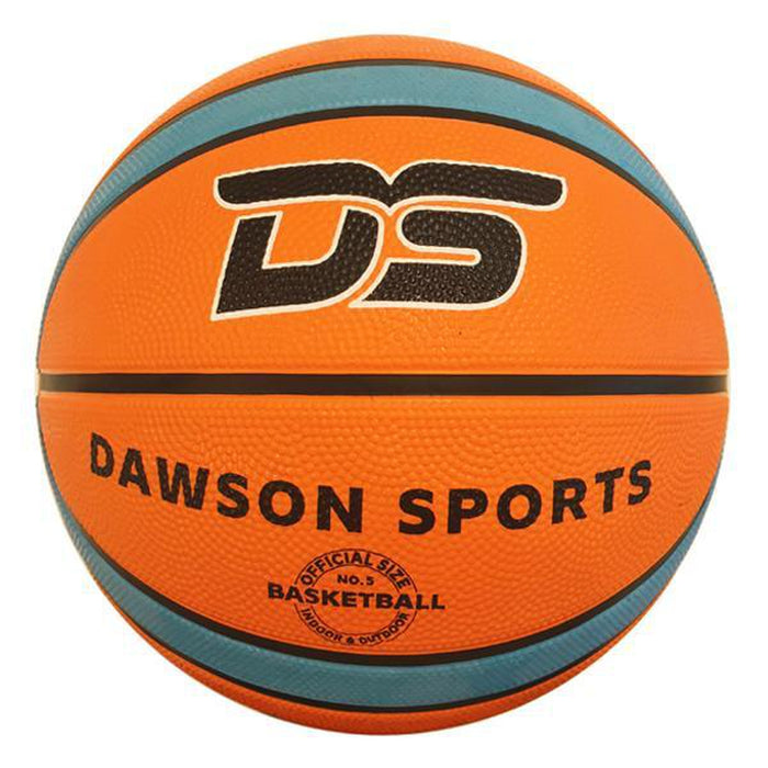 DAWSON SPORTS Kid's Rubber Basketball | 12 Panel Design | Premium Rubber Cover