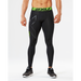 2XU Men's Refresh Recovery Tights - Black/Nero | Powerful and Flexible Compression Fabric | 65% Nylon 35% Lycra