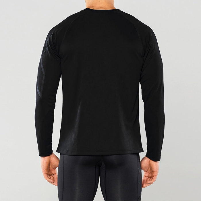 2XU Men's BSR Active Long Sleeve Tee - Semi-fitted | Moisture Management Technology | Polygiene ® Odour Technology