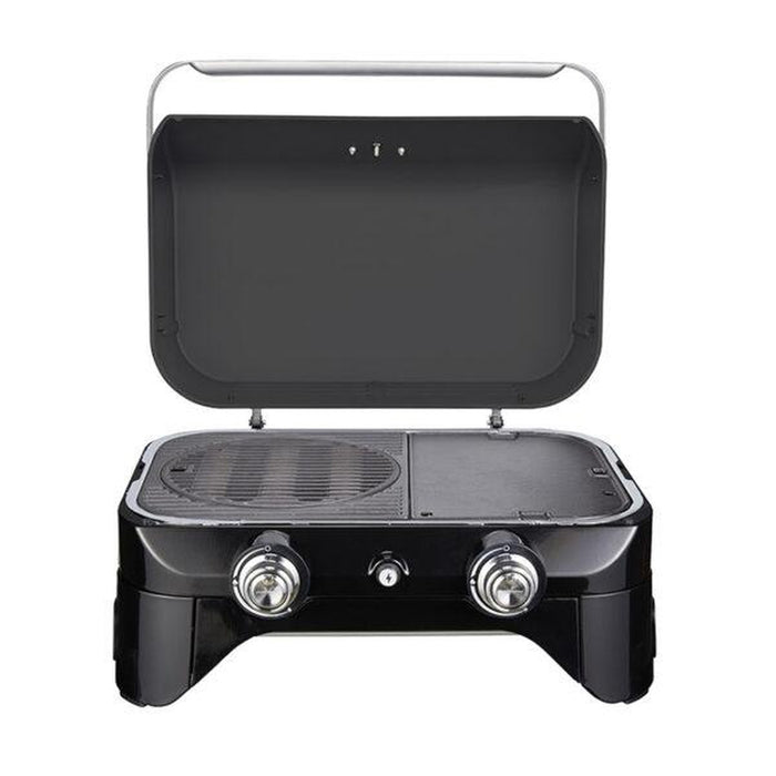 CAMPINGAZ BBQ Attitude 2100 LX - Black | Power: 5 kW | Compact, Portable Package | Enamelled Cast Iron
