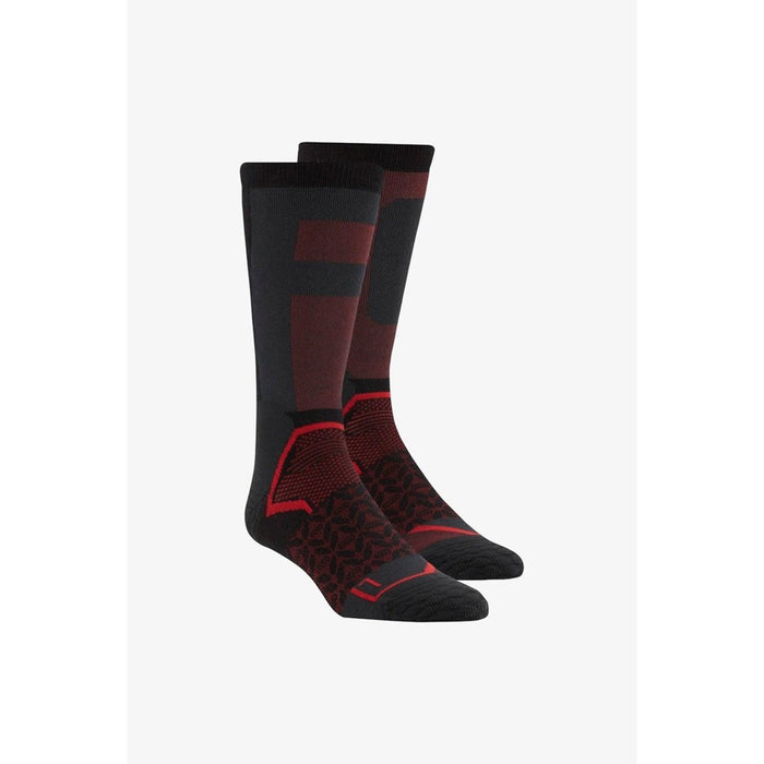 REEBOK Crossfit Unisex Tech Crew Socks 781M -Black/Primal Red | COOLMAX® Technology | Moisture-Wicking Fabric