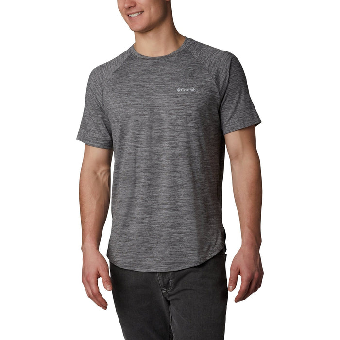 COLUMBIA Men's Tech Trail II Short Sleeve Crew | Omni-Shade UPF 50 Sun Protection | Omni-Wick Moisture Wicking Fabric