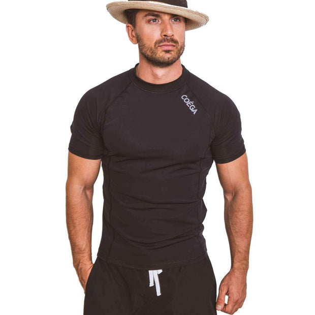 COEGA Mens Rashguard Short Sleeve - Black
